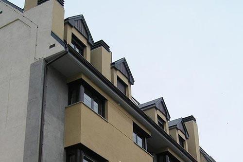 Fachada Edificio Entrerrios Ainsa Huesca