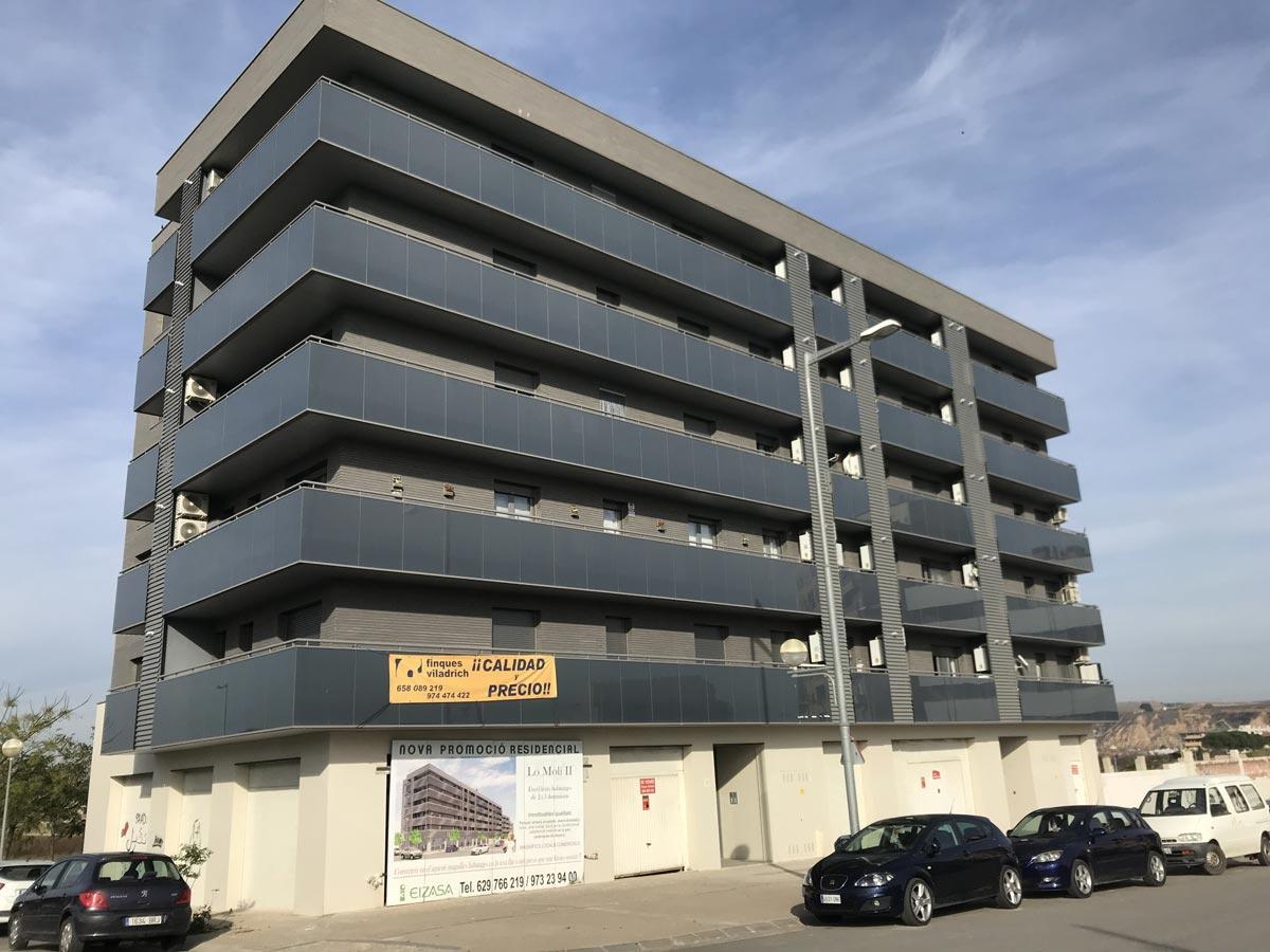 Comprar piso en Fraga Fachada edifificio LO MOLI II de Fraga